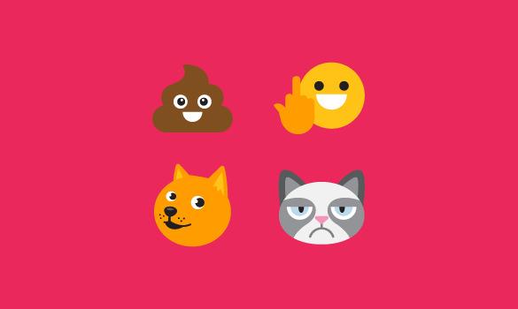 ultratext middle finger set of emoji
