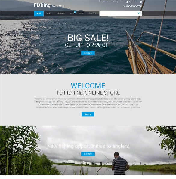 fishing store woocommerce theme 114