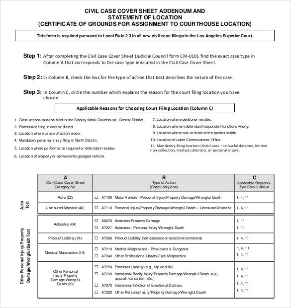addendum civil cover sheet download1