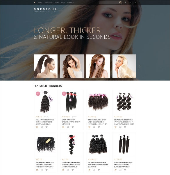 hair styles woocommerce theme 114