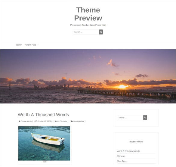 free simple blog woocommerce theme
