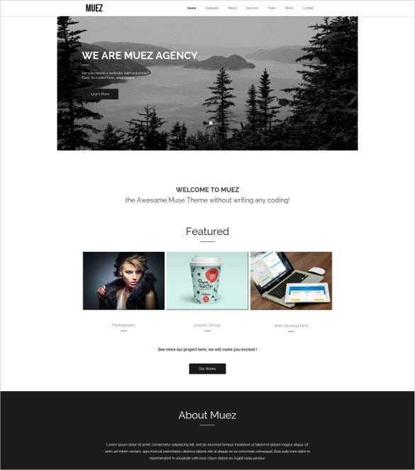 creative mobile agency muse website template