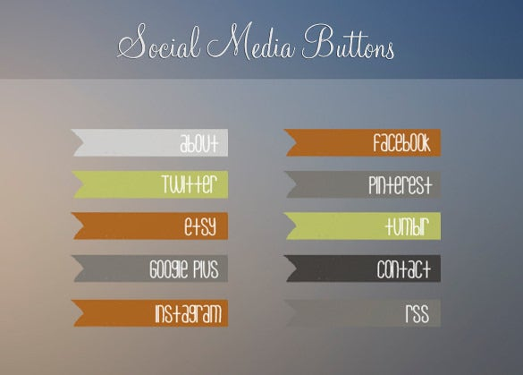 social media button design download