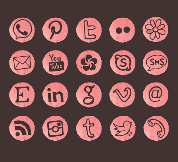 creative social media icons download