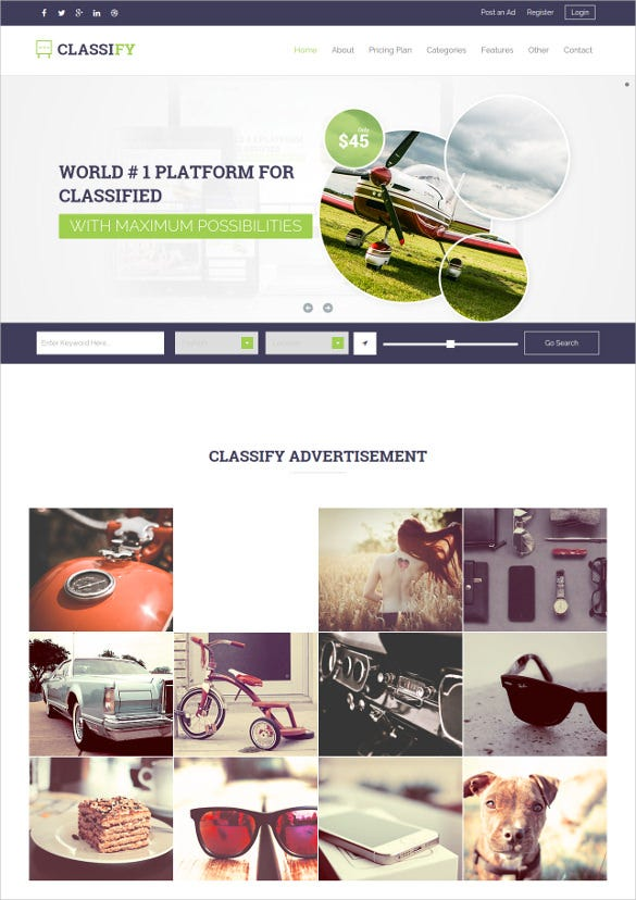 classified ads html website template