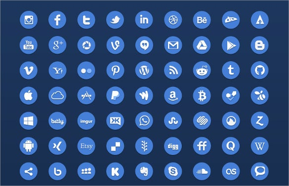 flat social media button styles download