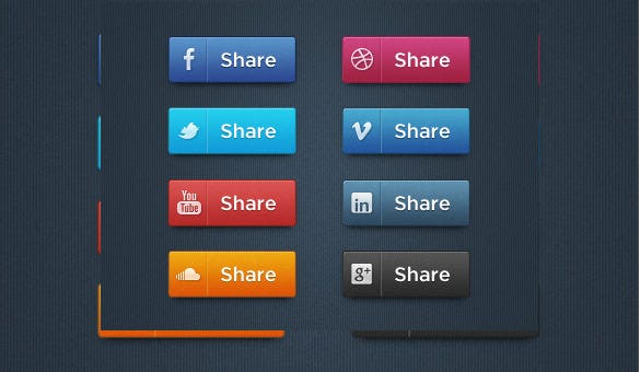 free social media buttons download