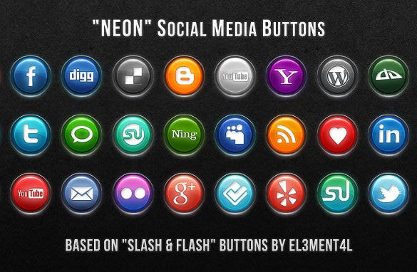 simple social media buttons download