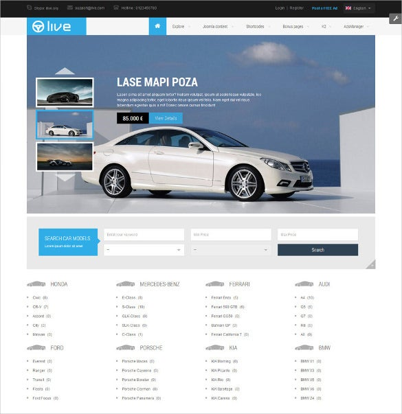responsive classified html5 joomla website template