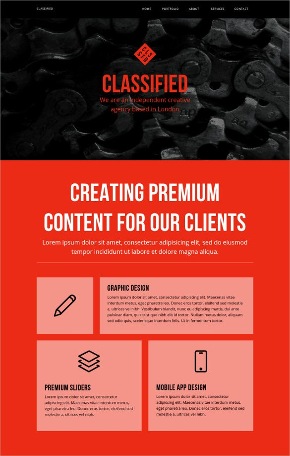 classified multipurpose muse html5 website template