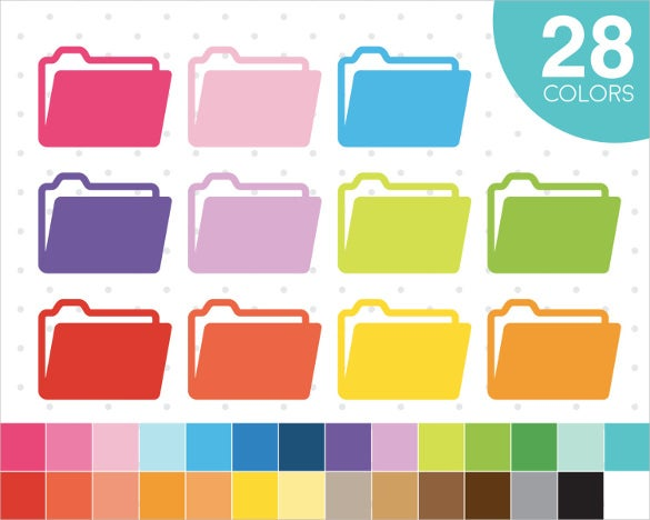 colorful folder icons set download