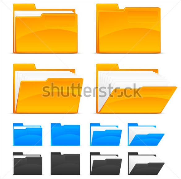 multi color folder icons