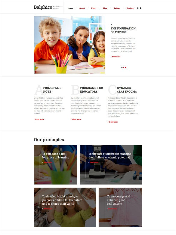 education classified ads html5 website template