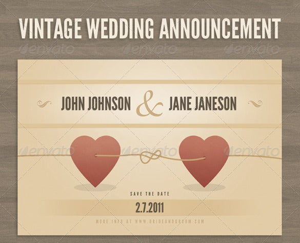 Wedding Announcement Templates  Free Sample Example Format