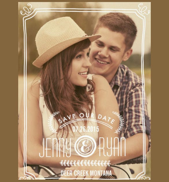 save the date wedding announcement template download