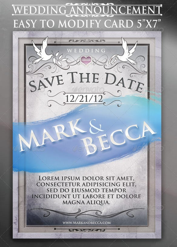 easy to download wedding announcement template