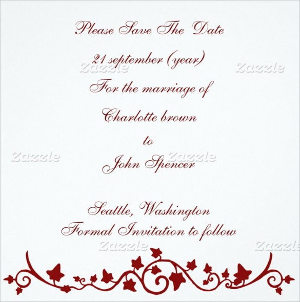 21 Wedding Announcement Templates Free Sample Example