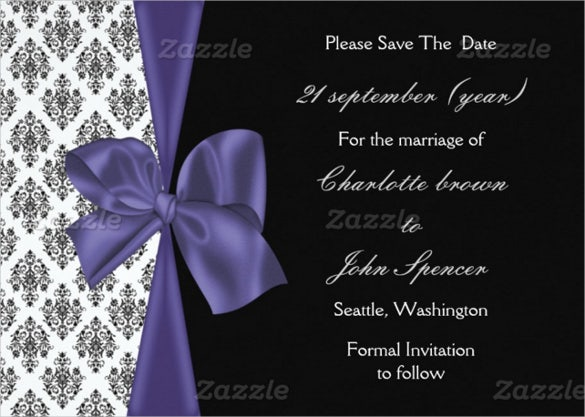 Easy To Download Wedding Announcement Template. Square Wedding