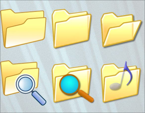 folder icons set ideas