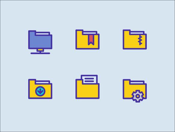 desktop floder icons set