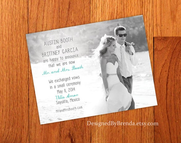 Attractive Wedding Announcement Template