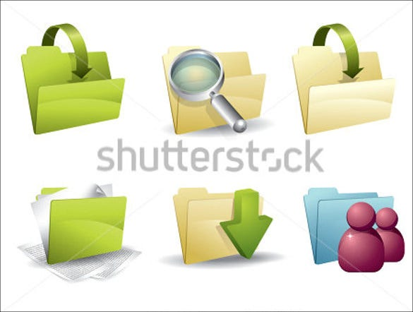 beautiful folder icons set download