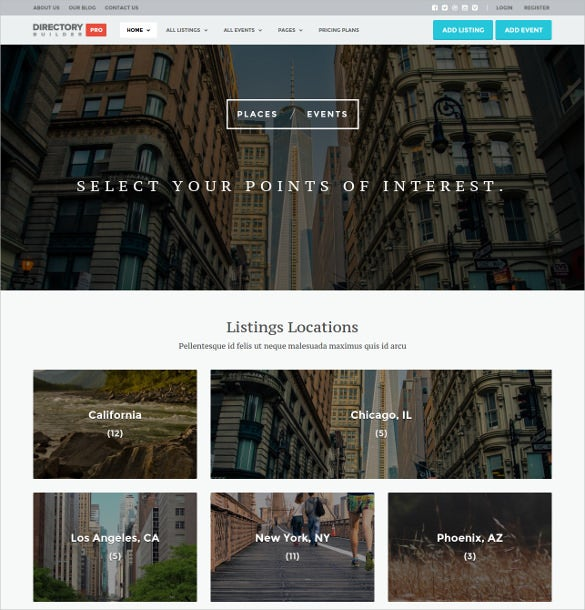 directory classified builder wp html5 theme