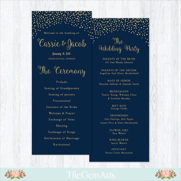 Attractive Wedding Ceremony Template For