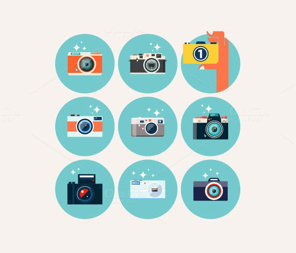 flat style camera icons set download1