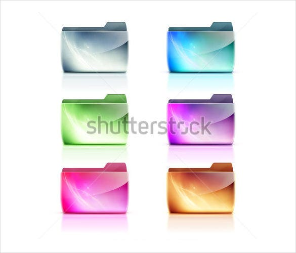 simple computer folder icons