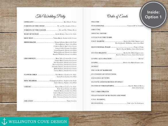 easy to download wedding ceremony template