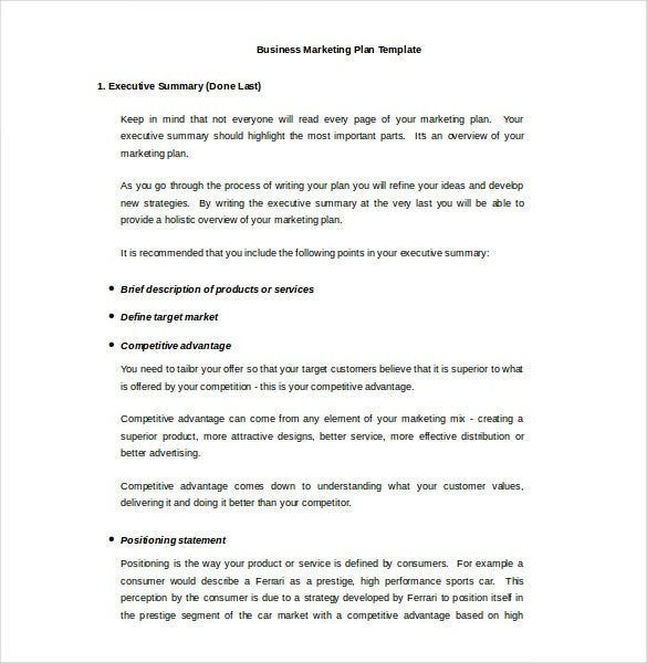 corporate marketing plan template - 33 word marketing plan templates free download free