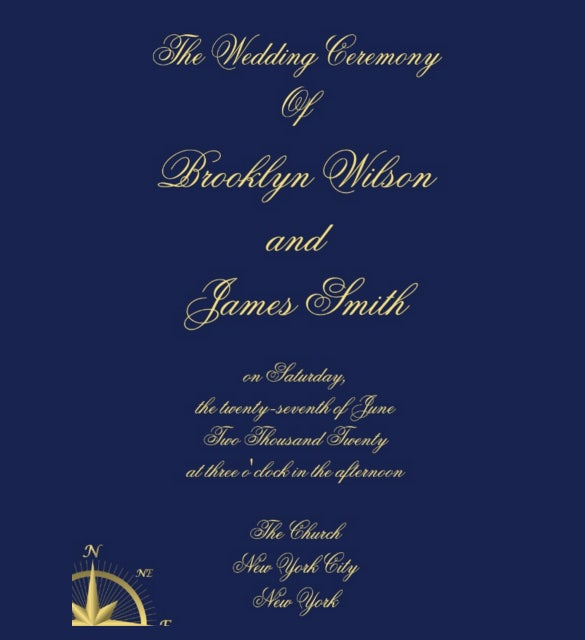 easy to download wedding ceremony template for download