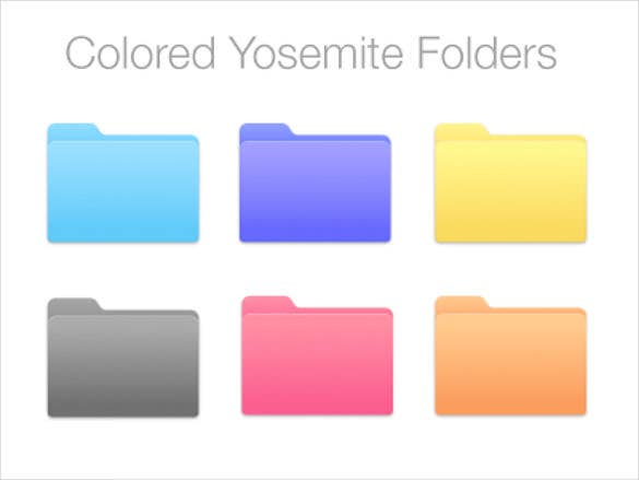 new folders with apps logos and colors