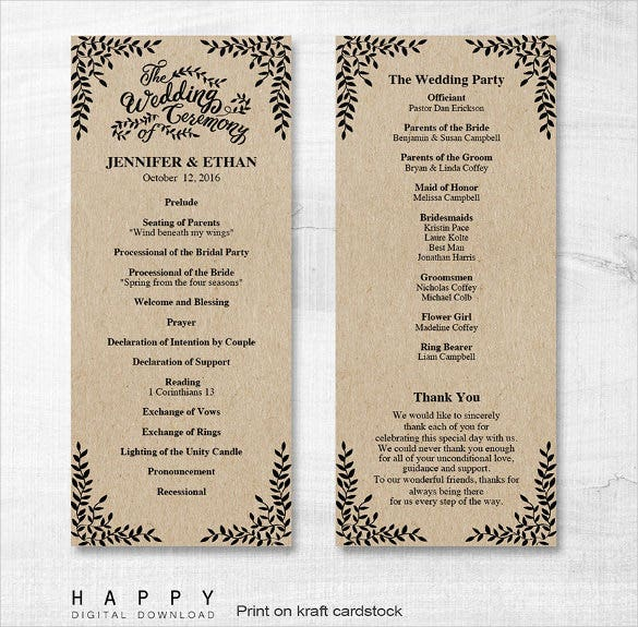 floral desinged wedding ceremony template for download
