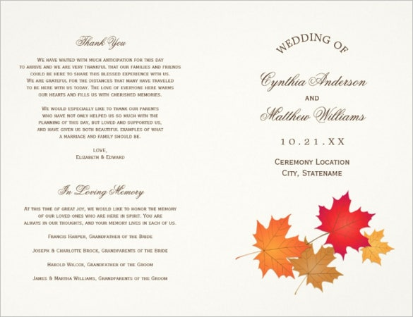 professional wedding ceremony template for download