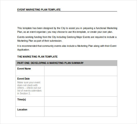 Word Marketing Plan Templates Free Download  Free  Premium