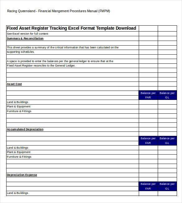 asset tracking template 8 free word excel pdf documents