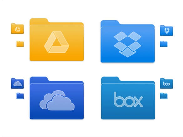 cloud floder icons