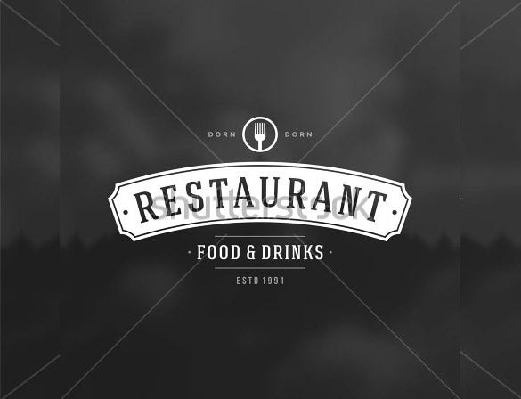food and drinks restaurant logo download