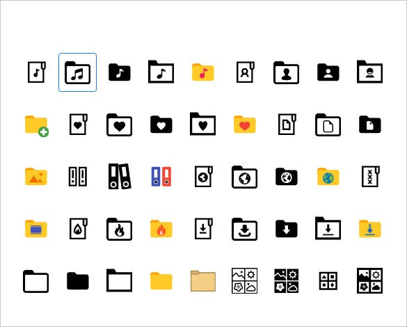 windows 10 folder icons