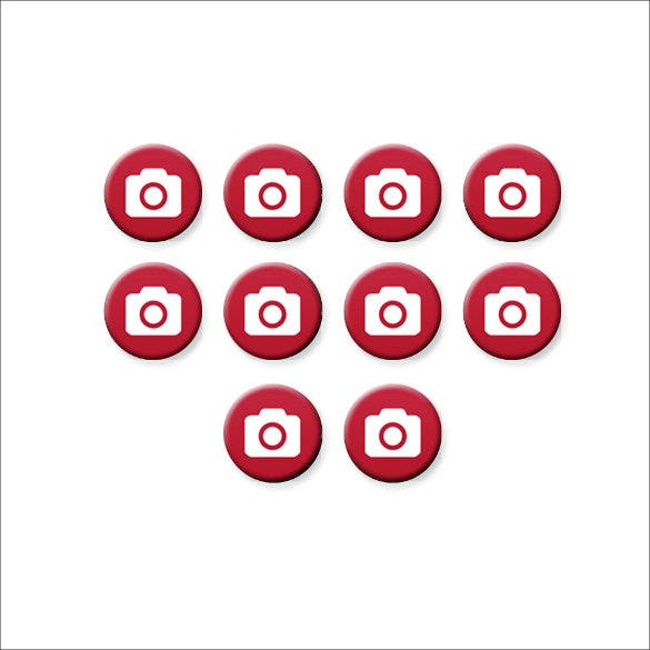 red coloured camera icons