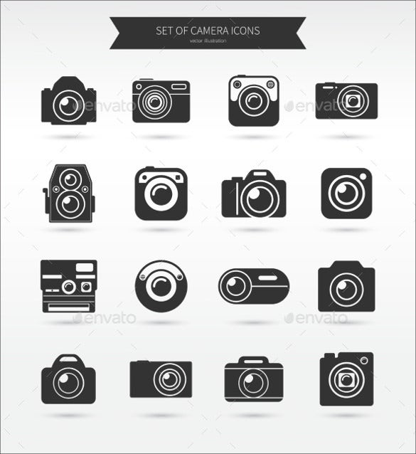 dark beautiful camera icons
