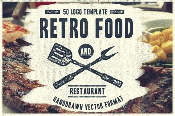retro food restaurant logo download