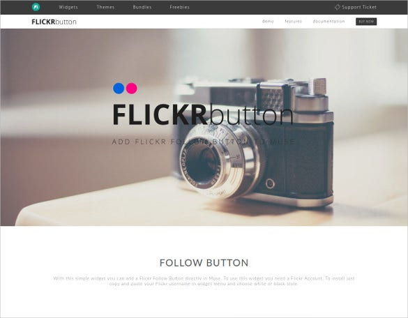 free flickr button muse template