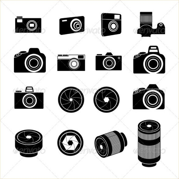 camera lens icons bundle