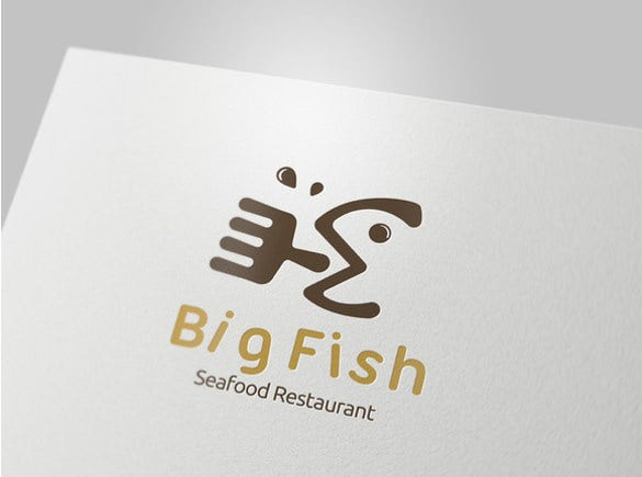 big fish restaurant logo download
