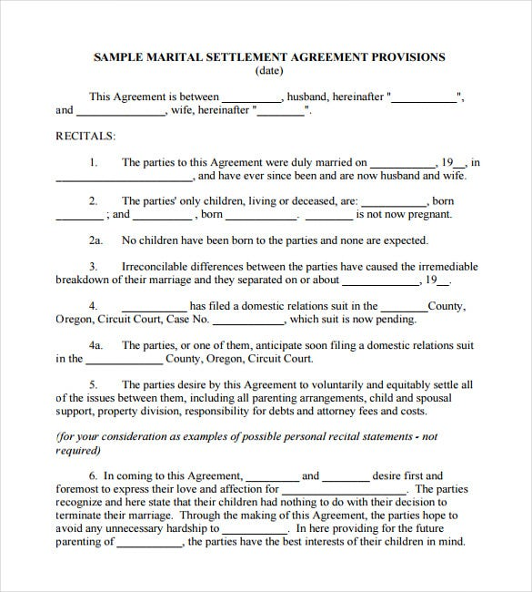 Sample Wedding Contract Certificate Template
