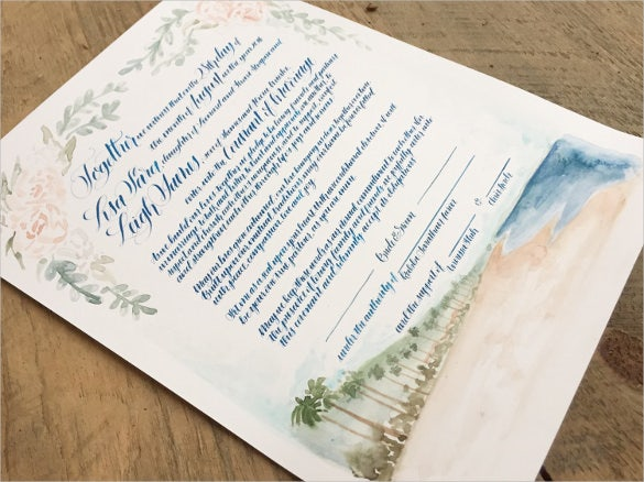 custom wedding contract template for download