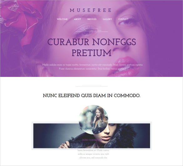 free beauty muse theme